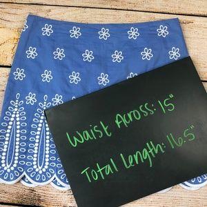 Vineyard Vines Skirts - Vineyard Vines Blue Periwinkle skirt scalloped 4